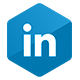 Icono de la red social LinkedIn: Servicio en red social LinkedIn - Link Socially